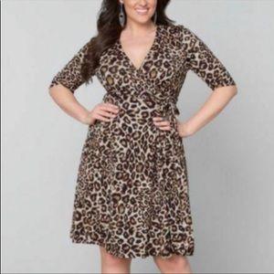 Lane Bryant Leopard Print Wrap Dress Size 18/20